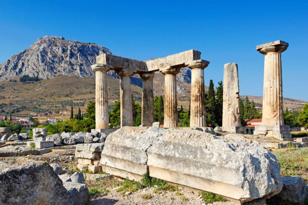 Ancient Ruins in Corinth